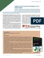 Los economistas se implican en las nuevas tecnologías y en el desarrollo de la estrategia digital