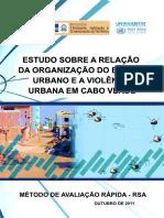 Estudo Relação Organização Espaço Urbano Cabo Verde
