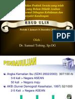 Profil Kasus Bidan Praktek Swasta yang telah Dilatih.ppt