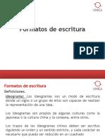 FORMATOS DE ESCRITURA