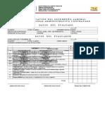 Planilla de Apreciación Del Desempeño Laboral Administrativo