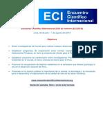 Programa Del ECI 2019 de Invierno 30 de Julio 1 de Agosto