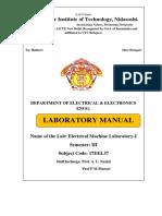 17eel37 Eml Lab Manual