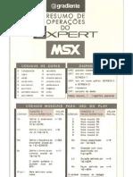 Resumo de Operações do Expert MSX