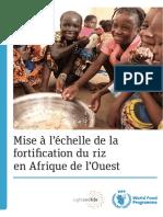 La Fortification Du Riz à Grande Échelle en Afrique de l'Ouest