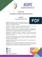 Estatuto Asociación de Estudiantes de la UPC 2019-02