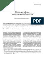 Género, parentesco y redes migratorias femeninas.       D'Aubeterre