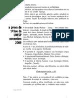 Prova Comentada - Unesp (1º Fase) - 2010