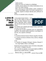 Prova Comentada - Unesp (2º Fase - 2)  - 2010