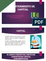 Mantenimiento de Capital