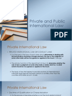 Private and Public International Law