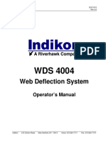 WDS 4004 Web Deflections System Operators Manual