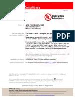 Certificacion UL Mangueras Key Hose