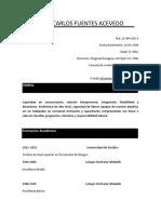 CV Juan Carlos Fuentes