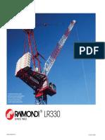 Raimondi LR330 Luffing Crane Load Chart