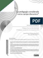 pedagogía campo discursivo