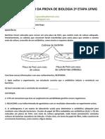 CORREÇÃO DA PROVA DE BIOLOGIA 2ª ETAPA UFMG - 1998
