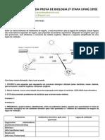 CORREÇÃO DA PROVA DE BIOLOGIA 2ª ETAPA UFMG 1999