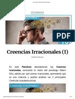 Creencias Irracionales (I) _ PsicoGuías