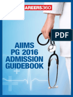 AIIMS PG 2016 Admission Guidebook