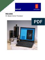 MS1000 Sonar, Op Manual 901-10017002