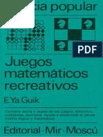 Guik, E.ya. - Juegos Matemáticos Recreativos (MIR)