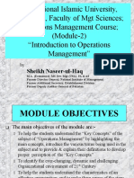 An Overview of Operations Management (Module-2)