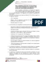 Normas Para Acreditación de Las Pasantías Profesionales Por Experiencia Laboral Del Programa de Ingeniería Biomédica