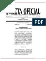 GO 41623 Decreto Nº 3.837 de Fecha 30 de Abril de 2019