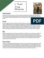 meet the teacher packet 2019-2020