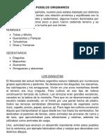Pueblos Originarios de Argentina para cuarto grado
