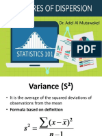 3 Variance and Standard Deviation for Students
