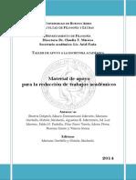 Delpech, B. y Otros (2014) Material de Apoyo Para La Redacción de Trabajos Académicos (UBA)