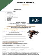 booster club membership form 19-20