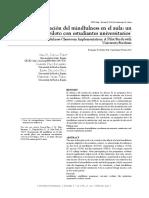 CUEVAS, A, Díaz, C., Delgado, E. y Vélez, M. (2017), Incorporación del mindfulness en el aula- un estudio piloto con estudiantes universitarios
