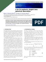 General Formula for Bi-Aspheric Singlet Lens Design Free of Spherical Aberration