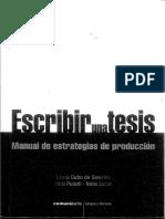 Escribir Una Tesis - Manual de Estrategias de Producción - Cubo de Severino