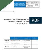 14. MFPC - RRHH - 014 Técnico Electricista