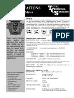 700 25 Spec Sheet
