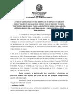 Aviso de Convocação CET 2019 20 Revista SOCIEDADE MILITAR