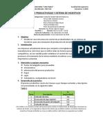 Control de Productividad y Sistema de Incentivos
