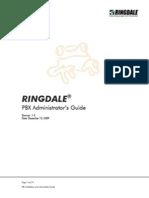 Ringdale: PBX PBX PBX PBX Administrator Administrator