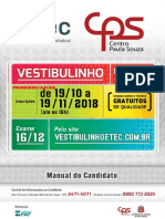 Manual do Candidato ETEC 2018