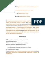 Modelo Acta de Asamblea General Para El Nombramiento de Representante Legal