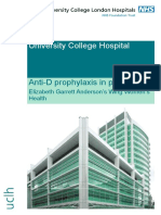 Anti-D Prophylaxis Patient Information