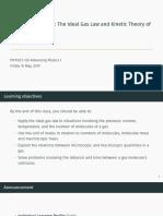 PHYSICS 120 Thermodynamics 6 Slides