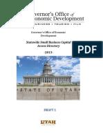 Utah Small Business Capital Directory
