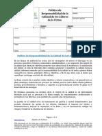 AA-01 Politica de Responsabilidad de La Calidad de Los Lideres de La Firma