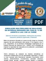 Pisco 2007 - Simulacro 15 de Agosto 2019