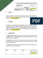 MAN-SST-001 Manual de Responsabilidades en Seguridad y Salud en El Trabajo SST
